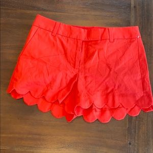 NWOT J. Crew women's  scalloped red shorts